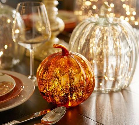 Hand Blown Glass Pumpkins from Pottery Barn