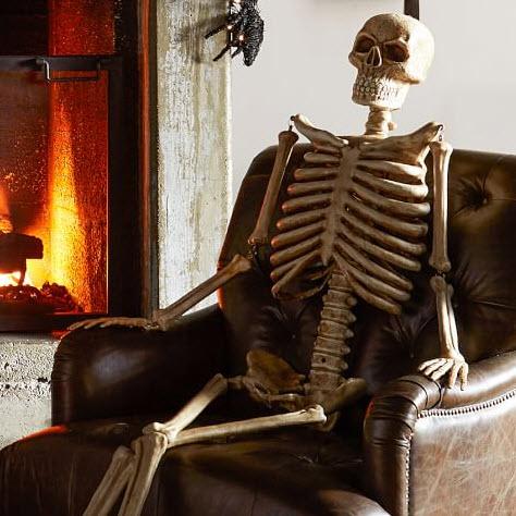 Mr. Bones Life-size Skeleton from Pottery Barn