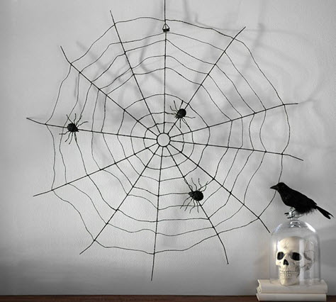 Glitter Spider Web Wall Decor from Pottery Barn