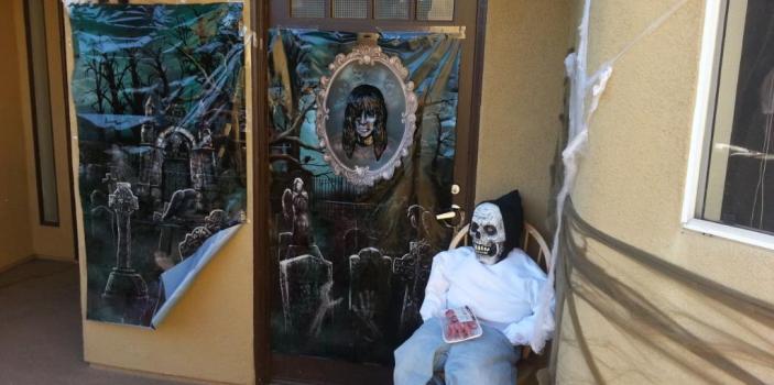 Halloween Door Decorations at Essex community Wilshire Promenade